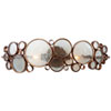 This item: Fascination Two-Light Bath Fixture in Hammered Ore with Recycled Glass