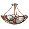 This item: Fascination Three-Light Semi-Flush Ceiling-Light in Hammered Ore with Recycled Glass