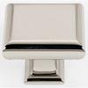This item: Polished Nickel Brass 1 3/4-Inch Square Knob