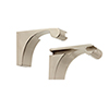 This item: Luna Polished Nickel Shelf Brackets Only, Set of 2