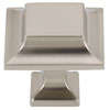 This item: Satin Nickel 1 1/4-Inch Square Knob