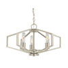 This item: Hexagon Satin Nickel 22-Inch Three Light Chandelier