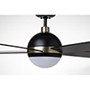 This item: Barbebque Black with Satin Gold Accents LED Astor Ceiling Fan