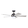 This item: Graphite with Brushed Steel Accents LED Astor Ceiling Fan