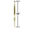 This item: Antique Brass 18-Inch Downrod
