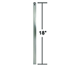 This item: Brushed Steel 18-Inch Downrod