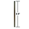 This item: Gilded Bronze 2.5-Inch Downrod