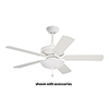 This item: Satin White Harlow LED Ceiling Fan Light Fixture