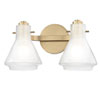 This item: Rosie Aged Brass 13-Inch Two-Light Vanity