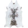 This item: Prairie Hides Gjovik Ivory-Black Animal Skin: 5 Ft. 6 In. x 6 Ft. Rug