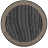 This item: Recife Wicker Stitch Black and Cocoa 8 Ft. 6 In. Round Indoor/Outdoor Rug