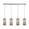 This item: Capri Satin Nickel Four-Light Pendant