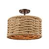 This item: Weaverton Oil Rubbed Bronze Two-Light Semi Flush Mount