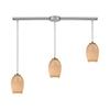 This item: Villiska Satin Nickel Three-Light Pendant