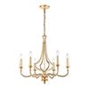 This item: La Rochelle Parisian Gold Leaf Six-Light Chandelier