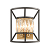 This item: Starlight Charcoal and Satin Brass Two-Light Wall Sconce