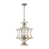 This item: Delray Aged Silver Three-Light Pendant