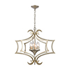 This item: Delray Aged Silver Six-Light Pendant