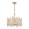This item: Equilibrium Matte Gold and Polished Nickel Five-Light Pendant With Clear Crystal