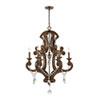 This item: San Sebastian Spanish Antiquewood and Dark Bronze Six-Light Chandelier