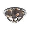 This item: Riveted Plate Silverdust Iron and Polished Nickel Four-Light Flush Mount