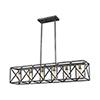 This item: Crossbar Silverdust Iron and Satin Brass Six-Light Island Pendant