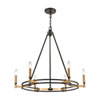 This item: Talia Oil Rubbed Bronze and Satin Brass Six-Light Chandelier