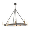 This item: Talia Oil Rubbed Bronze and Satin Brass Eight-Light Island Chandelier