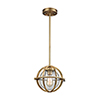 This item: Aubridge Classic Brass 10-Inch One-Light Mini Pendant with Clear Seedy Blown Glass