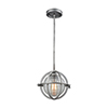 This item: Aubridge Weathered Zinc 10-Inch One-Light Mini Pendant with Clear Ribbed Blown Glass