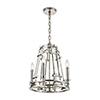 This item: Bergamo Polished Nickel Four-Light 15-Inch Chandelier