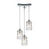 This item: Ezra Polished Chrome Three-Light 12-Inch Pendant With Clear Crystal