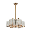 This item: Compartir Polished Nickel and Satin Brass Seven-Light Pendant
