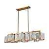 This item: Compartir Polished Nickel and Satin Brass 10-Light Island Pendant