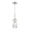 This item: Hand Formed Glass Polished Chrome One-Light Five-Inch Mini Pendant