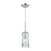 This item: Hand Formed Glass Polished Chrome One-Light Mini Pendant