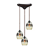 This item: Whisp Oil Rubbed Bronze 60W Three-Light Pendant