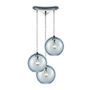 This item: Watersphere Polished Chrome 100W Three-Light Pendant