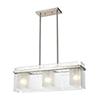 This item: Vellis Satin Nickel Three-Light Pendant