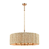 This item: Abaca Satin Brass Eight-Light Pendant