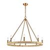 This item: Abaca Satin Brass Eight-Light Chandelier