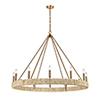 This item: Abaca Satin Brass 12-Light Chandelier