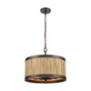 This item: Wooden Barrel Oil Rubbed Bronze and Natural Wood 19-Inch Six-Light Chandelier