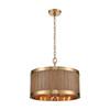 This item: Wooden Barrel Satin Brass and Medium Oak 19-Inch Six-Light Chandelier