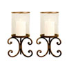 This item: Malta Metal and Glass Candle Holder, Set of Two