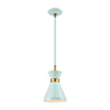 This item: Modley Pastel Aqua and Brushed Brass One-Light Mini Pendant