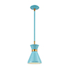 This item: Modley Pastel Blue and Brushed Brass One-Light Mini Pendant