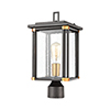 This item: Vincentown Matte Black and Brushed Brass One-Light Outdoor Post Mount