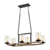 This item: Geringer Charcoal and Burnished Brass Six-Light Island Chandelier