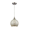 This item: Fusion Satin Nickel Eight-Inch One-Light Mini Pendant with Silver Glass